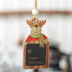 Snømann reinsdyr nisse jul hengende Tre Julevedheng Trehengende ornamenter (Sett med 2)