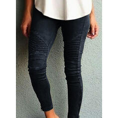 Striped Froncé Grande taille Longue Maigre Yoga Plaine leggings