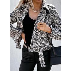 Dlouhé rukávy leopard Jachetă