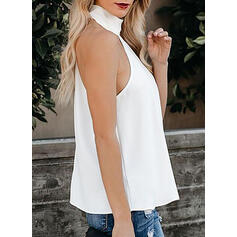Solide Cold Shoulder Mouwloos Casual Tanks