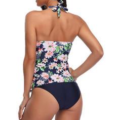 Tropické tisky Ohlávka Sexy Tankiny Plavky