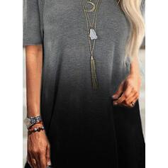 Gradient Okrągły dekolt Krótkie rękawy T-shirty