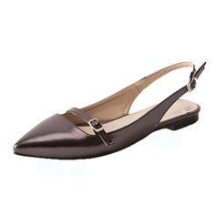 Women's Leatherette Flat Heel Flats Slingbacks shoes