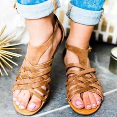 Жіночі ПУ Низька підошва Сандалі взуття на короткій шпильці з Пряжка взуття