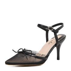 Femmes Dentelle Talon stiletto Escarpins Escarpins avec Bowknot chaussures