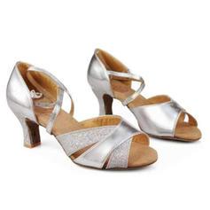 De mujer Danza latina Tacones Sandalias Cuero Danza latina