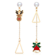 Unique Beautiful Alloy With Imitation Pearl Earrings Christmas Jewelry