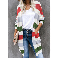 Kleurblok Pocket Casual Lang Vest
