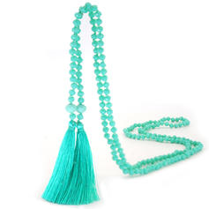 Lovely Silk Crystal With Tassels Women's Necklaces