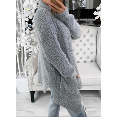 Solid Lommer Casual Cardigan