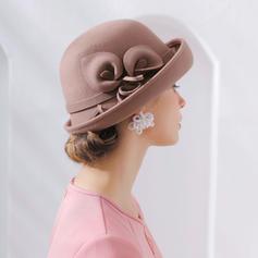Senhoras Moda/Bonito/Charme Lã De disquetes Chapéu