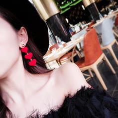Gentil Tissu Alliage Femmes Boucles d'oreilles (Lot de 2)