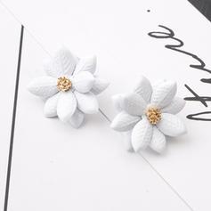 Blomster Formet Legering Kvinder øreringe
