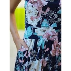 Impresión/Floral Sin mangas Cubierta Casual/Vacaciones Maxi Vestidos