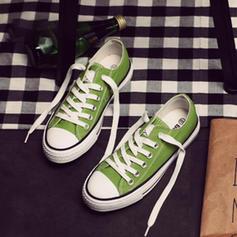 Femmes Toile Talon plat Chaussures plates avec Dentelle chaussures