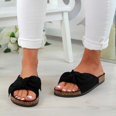 Kvinner PU Flat Hæl Sandaler Flate sko med Dyr Ut sko