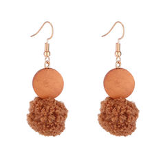 Stylish Acrylic Copper With Acrylic Women's Fashion Earrings (Set of 2)