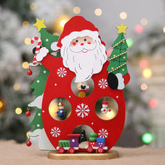 Snowman Santa Christmas Wooden Christmas Décor Diy Craft