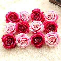 Roses Silk Silk Flowers (Set of 10)