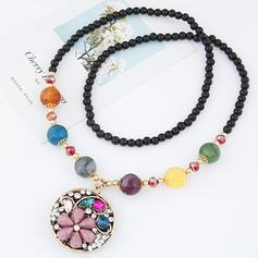 Hermoso Aleación Diamantes de imitación Perlas De mujer Collares