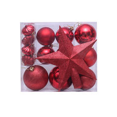 Merry Christmas 20 PCS PVC Christmas Décor Ball (Set of 20)