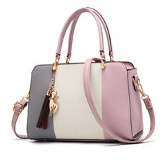 Refined/Splice Color PU Satchel/Shoulder Bags