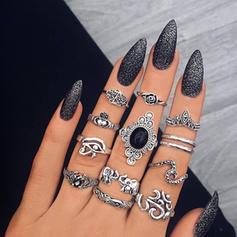 Exotisch Legering Vrouwen Ringen (Set van 12 paar)