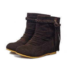 Women's Suede Low Heel Ankle Boots shoes