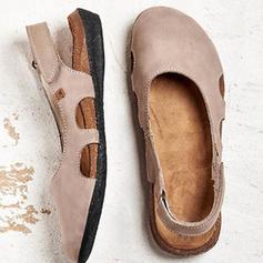 De mujer PU Tacón plano Planos con Velcro zapatos