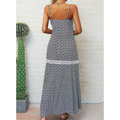 Print Sleeveless A-line Slip/Skater Casual/Vacation Maxi Dresses