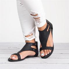 De mujer PU Tacón plano Sandalias zapatos