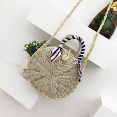 Unique/Braided Straw Shoulder Bags/Beach Bags