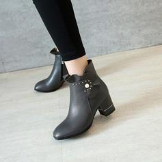 Femmes Similicuir Talon bottier Escarpins Bottes Bottines avec Pearl chaussures