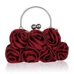 Elegant Silk Clutches/Wristlets/Bridal Purse/Fashion Handbags/Makeup Bags/Luxury Clutches