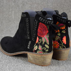 Women's PU Chunky Heel Boots shoes