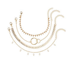 Le plus chaud Alliage avec Perle d'imitation Parures Bracelets Bijoux de plage (4 pièces)