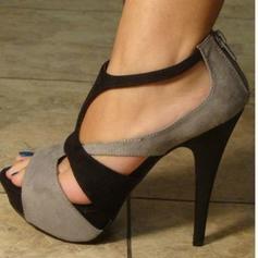 Γυναίκες PU Ψηλό τακούνι Σανδάλια Γοβάκια Με Φερμουάρ παπούτσια