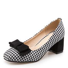 5388d4c782f0 hurtig oversigt Kvinder Stof Stor Hæl Pumps med Bowknot sko