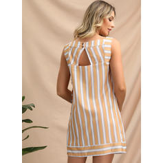 Striped Sleeveless Shift Above Knee Casual/Vacation Dresses