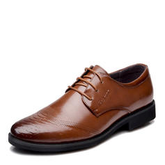 Cordones Casual Trabajo Cuero de microfibra Hombres Zapatos Oxford de caballero