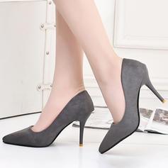 Női Szarvasbőr Tűsarok Magassarkú Zárt lábujj cipő