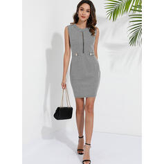 Print Sleeveless Bodycon Above Knee Casual/Elegant Dresses