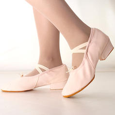 Women's Ballet Heels Canvas Ballet