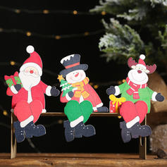 Snowman Reindeer Santa Wooden Christmas Décor Diy Craft