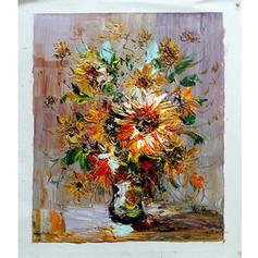 Modern Dikdörtgen Çiçek / Botanik Resim Sergisi