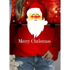 Imprimeu Figura Guler Rotund Mâneci Lungi Crăciun brățară