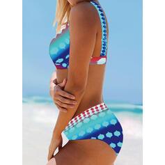 Dot High Waist Strap Bohemian Bikinis Swimsuits