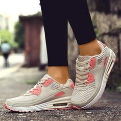 Mulheres Couro Malha Casual Outdoor Atlético Caminhada com Aplicação de renda sapatos