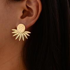 Stylish Maple Leaf Alloy Earrings 2 PCS