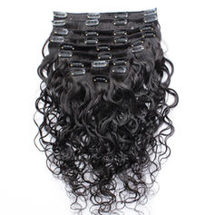 3A Body Human Hair Clip in Hair Extensions 8pcs